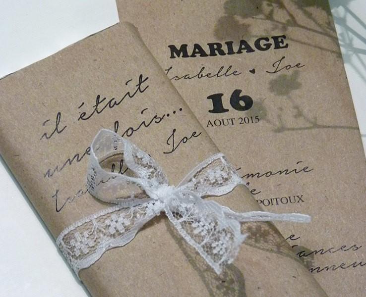 faire-part mariage kraft