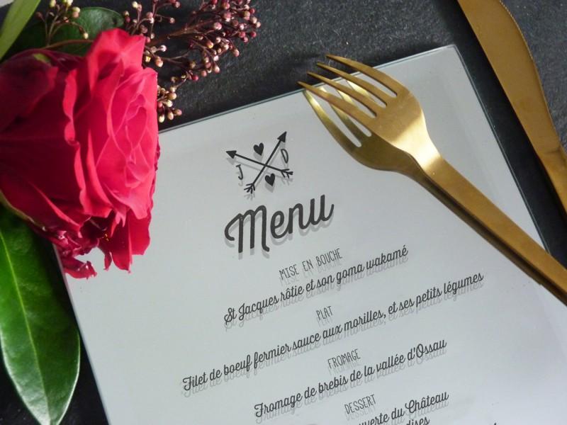 menu mariage miroir