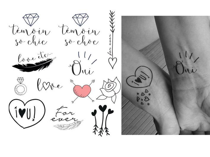 l'atelier inspiré | tatouage temporaire mariage • 15€